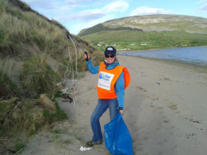 Auriel Robinson helping to Clean Up Coast