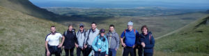 Hikers with Seatrails on Benbulben