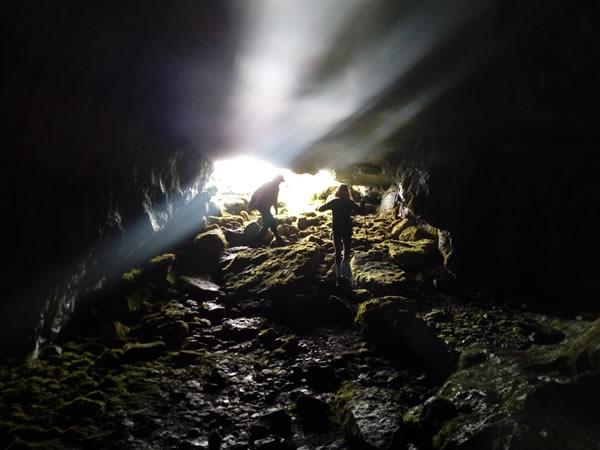 Inside cave at Benbulben