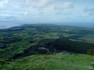 View from Benbulben mountain top