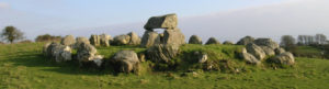 Megalithic stones in circle
