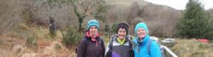 Auriel with a few ladie on trail at Gleniff horseshoe