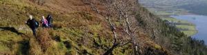 Ladies Hiking On Seatrails Devils Chimney Trail