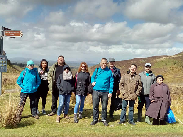 Auriel on field trip with VEC Students from Sligo at Carrowkeel