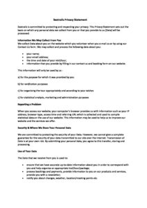 Seatrails Privacy Statement