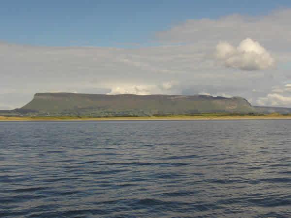 Benbulben from the water in Sligo bay