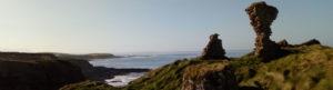 Castle ruin by the coast Ireland