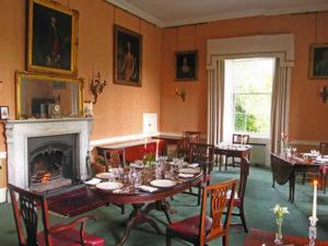 Charming dining room at Coopershill, Sligo