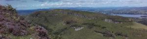 Mountainous view of Bricklieves under purple heather
